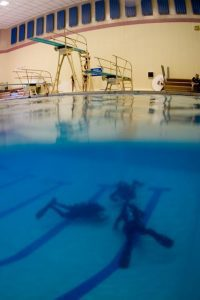 diving in a pool small
