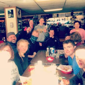 Anchor Inn, Whittier, with a bunch of happy new divers