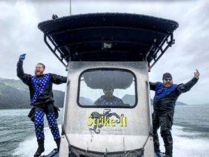 dui diving scuba alaska rhib drysuit excursion