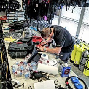 Drysuit Repair at Dive Alaska