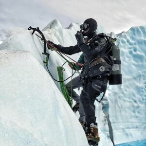 Ice Climbing and Scuba Diving on a Glaicer